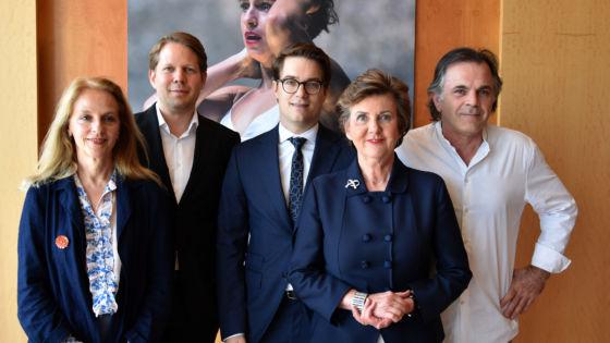 Bettina Hering (Drama), Florian Wiegand (Concert), Lukas Crepaz (Executive Director), Helga Rabl-Stadler (President), Markus Hinterhäuser (Artistic Director)