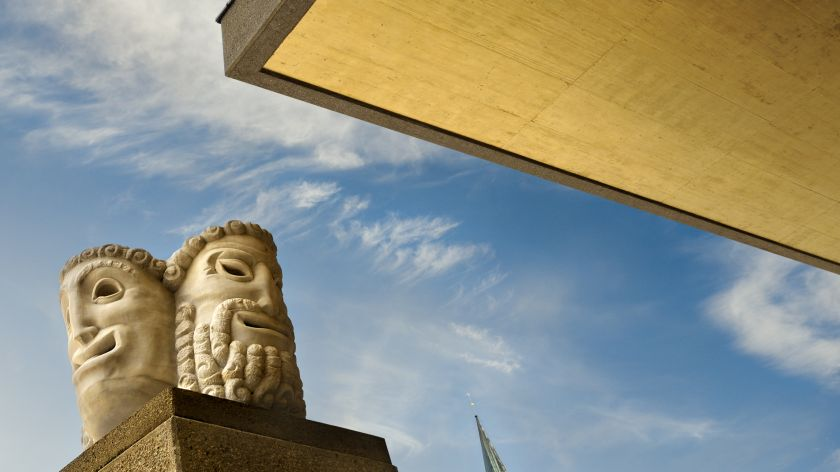 Masks pillar Salzburger Festspiele