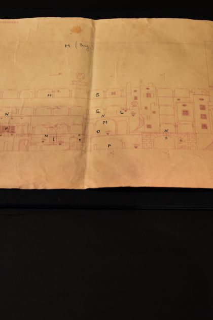 Bühnenbildskizze von Clemens Holzmeister Ausstellung Grosses Welttheater 100 Jahre Salzburger Festspiele