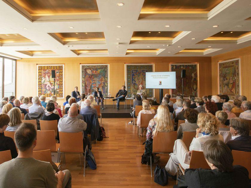 Panel discussion Heavenly Voices Bernhard Richter Corinna Herr Jochen Kowalski Jürgen Kesting Salzburg Festival