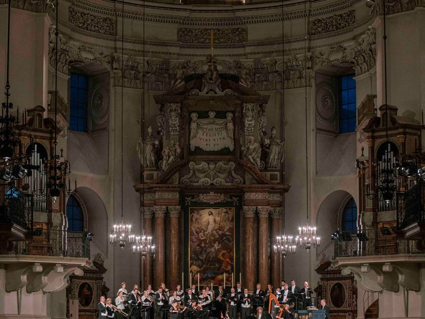 Monteverdi Choir English Baroque Soloists John Eliot Gardiner Dirigent Salzburg Whitsun Festival