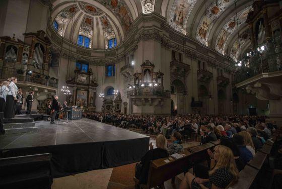 Cathedral Concert Monteverdi Choir English Baroque Soloists John Eliot Gardiner Dirigent Salzburg Whitsun Festival