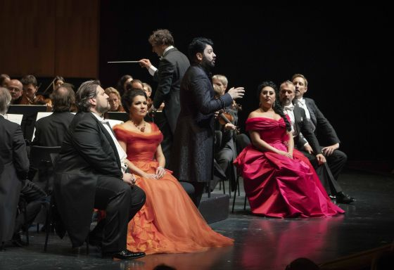 Mika Kares Andrea Giovannini Nicola Alaimo Anita Rachvelishvili Anna Netrebko Adriana Lecouvreur Salzburger Festspiele 2019