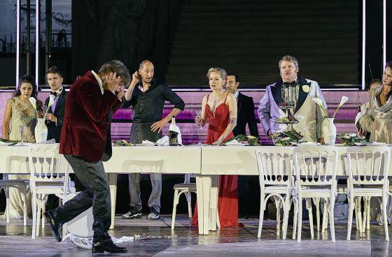 Björn Meyer Valery Tscheplanowa Markus Kofler Tobias Moretti Jedermann Salzburger Festspiele 2019