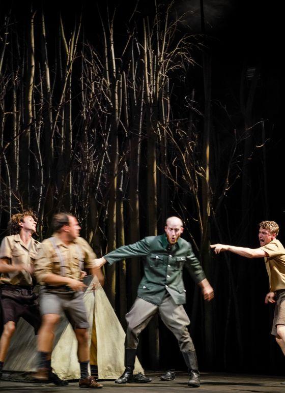 Damir Avdic, Laurenz Laufenberg, Lukas Turtur Jugend ohne Gott Salzburger Festspiele 2019
