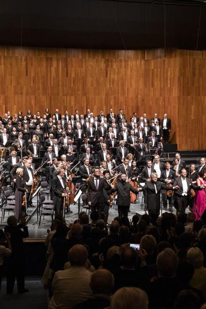 Salzburger Festspiele 2019 Berliner Philharmoniker 1 · Petrenko: Gijs Leenaars, Kirill Petrenko, Kwangchul Youn, Benjamin Bruns, Elisabeth Kulman, Marlis Petersen, Berliner Philharmoniker