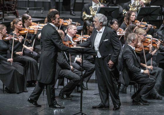 Luisa Miller Salzburger Festspiele 2019: Piotr Beczala (Rodolfo), Plácido Domingo (Miller), Mozarteumorchester Salzburg