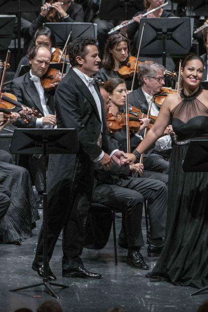 Luisa Miller Salzburger Festspiele 2019: Piotr Beczala (Rodolfo), Nino Machaidze (Luisa), Mozarteumorchester Salzburg