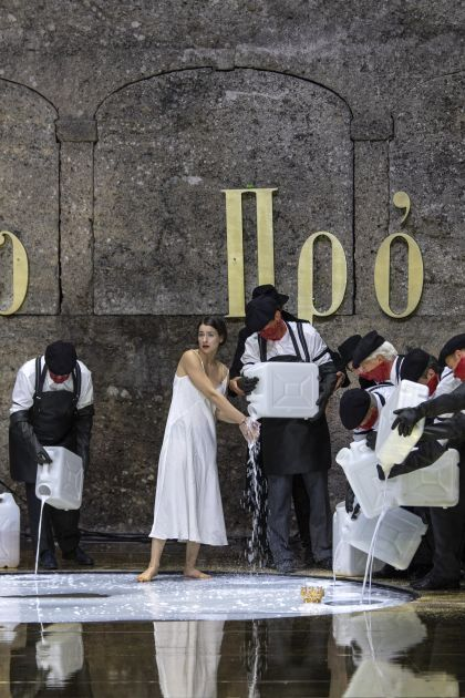 Salome Salzburger Festspiele 2019: Asmik Grigorian (Salome), Anna Maria Chiuri (Herodias)