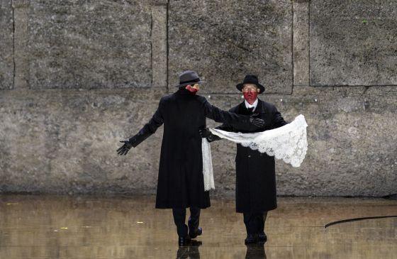 Salome Salzburger Festspiele 2019: Christina Bock (Ein Page der Herodias), Julian Prégardien (Narraboth)
