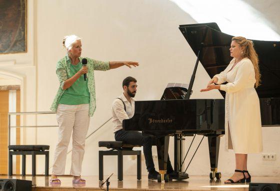 YSP Meisterklasse · von Otter Salzburger Festspiele 2019:Anne Sofie von Otter, Alfredo Abbati, Marie-Andrée Bouchard-Lesieur