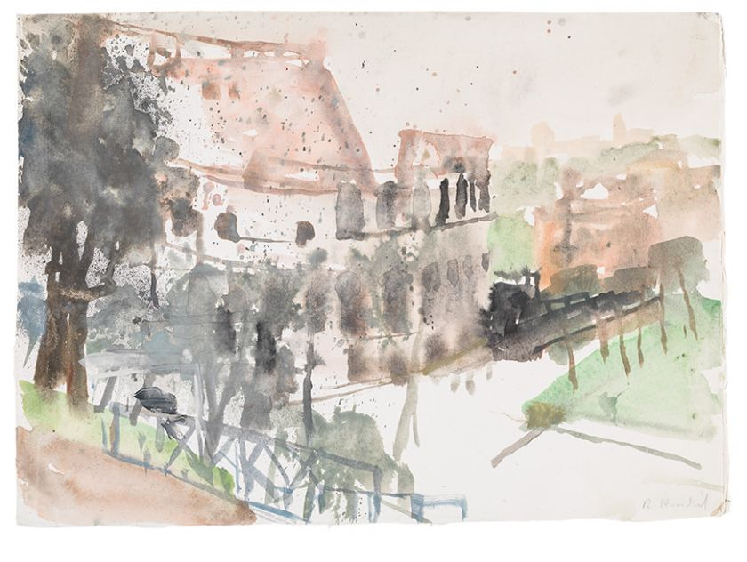Rudolf Hradil, Kolosseum, Aquarell, 1991 Pfingstfestspiele 2021