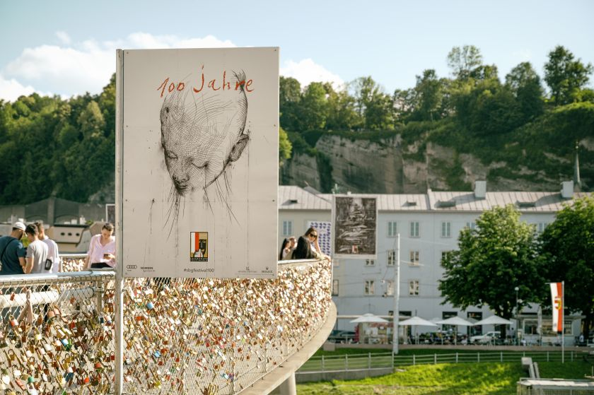 Jaume Plensa Poster Plakat Salzburger Festspiele