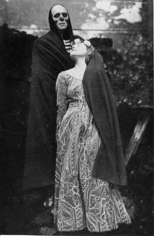 1920 Jedermann Dame der Tischgesellschaft-Werner Krauß Salzburger Festspiele