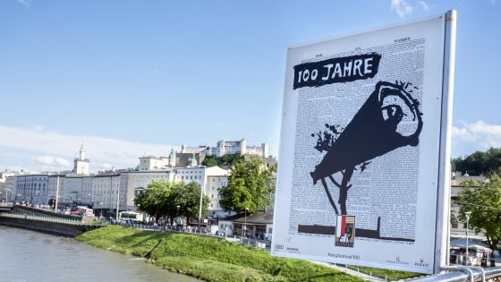 100 Jahre Salzburger Festspiele William Kentrdige Poster