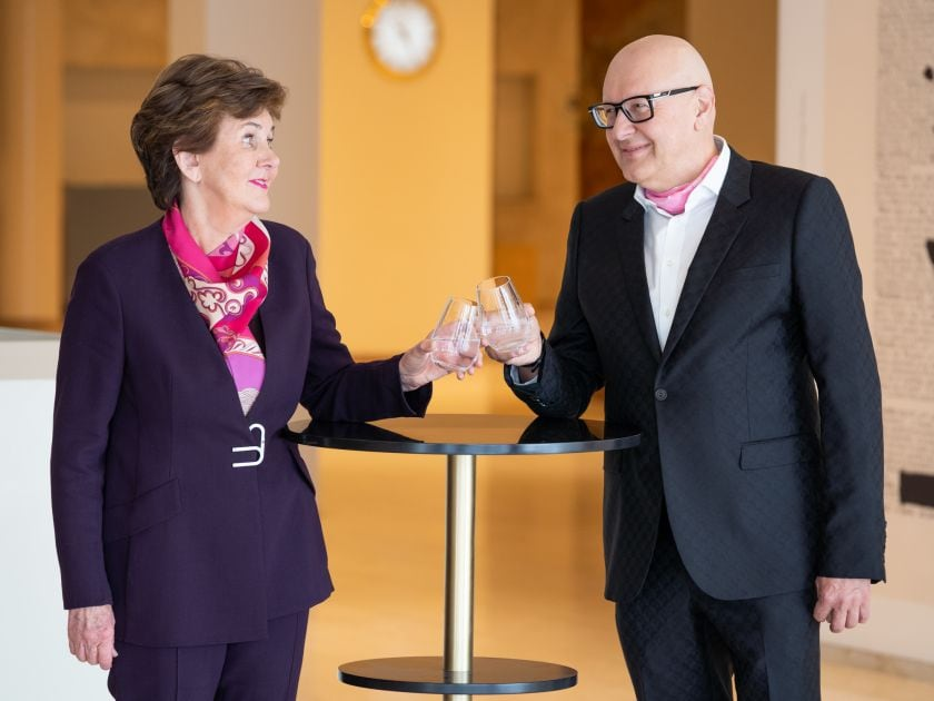 Festspielpräsidentin Helga Rabl-Stadler BWT Hauptsponsor Andreas Weißenbacher