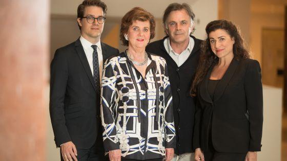 Salzburg Whitsun Festival, Board of Directors, f.l.t.r: Lukas Crepaz, Helga Rabl-Stadler, Markus Hinterhäuser, Cecilia Bartoli