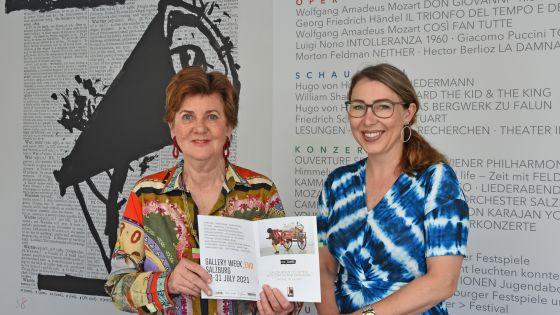 Festspielpräsidentin Helga Rabl-Stadler und Organisatorin des Fests zur Festspieleröffnung Renate Stelzl