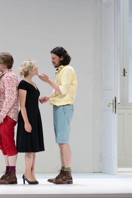 Così fan tutte 2021: Marianne Crebassa (Dorabella), Bogdan Volkov (Ferrando), Elsa Dreisig (Fiordiligi), Andrè Schuen (Guglielmo), Michael Nagy (Don Alfonso)