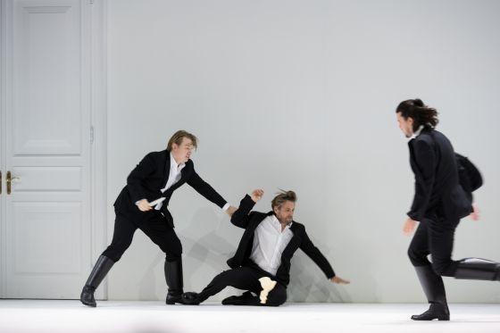 Così fan tutte 2021: Bogdan Volkov (Ferrando), Michael Nagy (Don Alfonso), Andrè Schuen (Guglielmo)