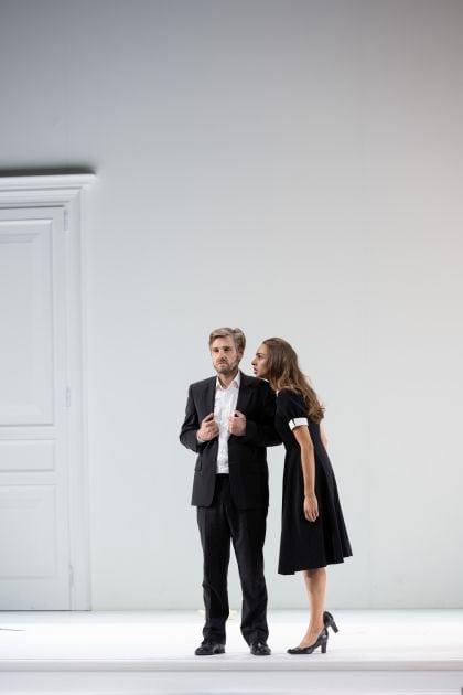 Così fan tutte 2021: Michael Nagy (Don Alfonso), Lea Desandre (Despina)