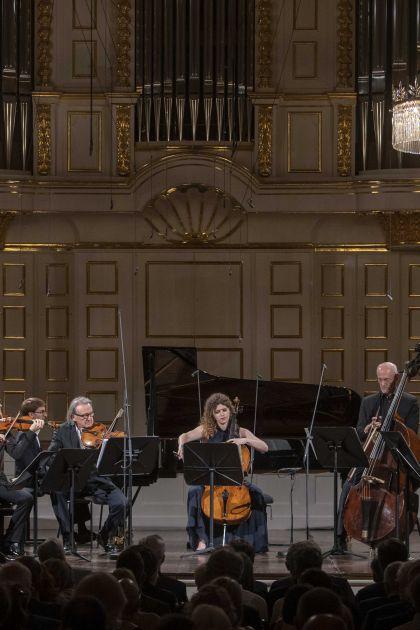 Chamber Concert R. Capuçon & Friends 2021: Adélaïde Ferrière (Harmonium), Renaud Capuçon (Violin), Christoph Koncz (Violin), Guillaume Bellom (Piano), Gérard Caussé (Viola), Julia Hagen (Violoncello), Alois Posch (Double bass), David Guerrier (Horn), Daniel Ottensamer (Clarinet)