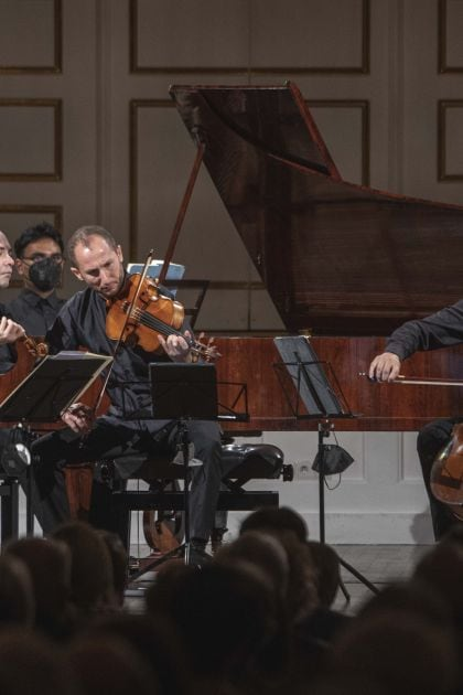 Chamber Concert Faust · Schreiber · Tamestit · Queyras · Melnikov 2021: Isabelle Faust (Violin), Alexander Melnikov (Piano), Antoine Tamestit (Viola), Jean-Guihen Queyras (Violoncello)