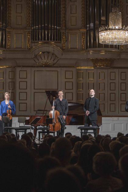 Chamber Concert Faust · Schreiber · Tamestit · Queyras · Melnikov 2021: Isabelle Faust (Violin), Jean-Guihen Queyras (Violoncello), Alexander Melnikov (Piano), Antoine Tamestit (Viola)