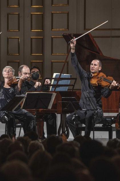 Chamber Concert Faust · Schreiber · Tamestit · Queyras · Melnikov 2021: Isabelle Faust (Violin), Anne Katharina Schreiber (Violin), Alexander Melnikov (Piano), Antoine Tamestit (Viola), Jean-Guihen Queyras (Violoncello)