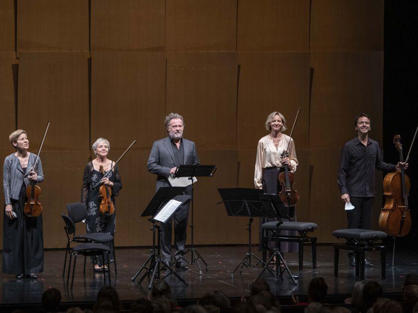 Christian Gerhaher & Friends 2021: Isabelle Faust (Violin), Anne Katharina Schreiber (Violin), Christian Gerhaher (Baritone), Danusha Waskiewicz (Viola), Jean-Guihen Queyras (Violoncello)