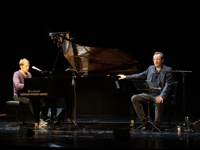 Lesung · Die Bergwerke zu Falun 2021: Jens Thomas, Matthias Brandt