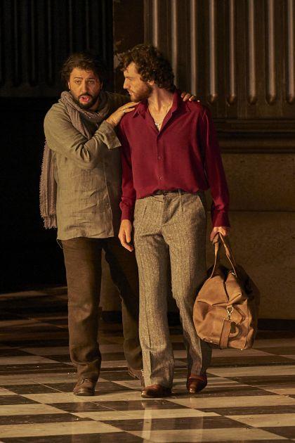 Tosca 2021: Yusif Eyvazov (Mario Cavaradossi), Michael Mofidian (Cesare Angelotti)